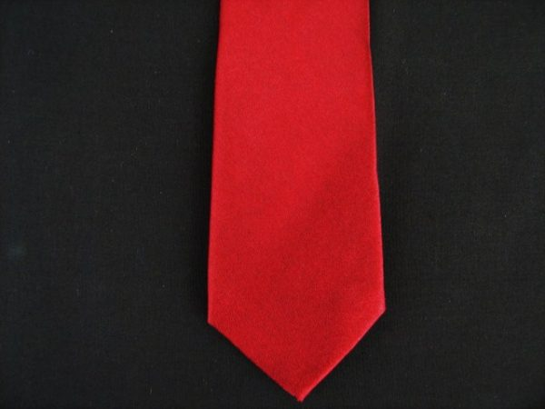 RED POLY SKINNY TIE -0