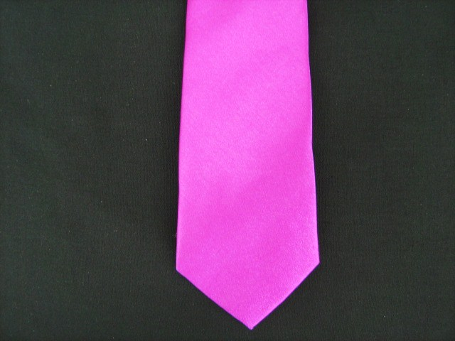 HOT PINK POLY TIE