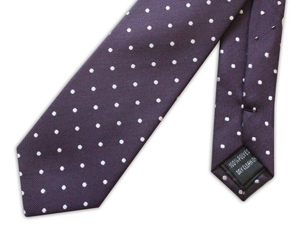Deep Purple/Pink Spot Tie