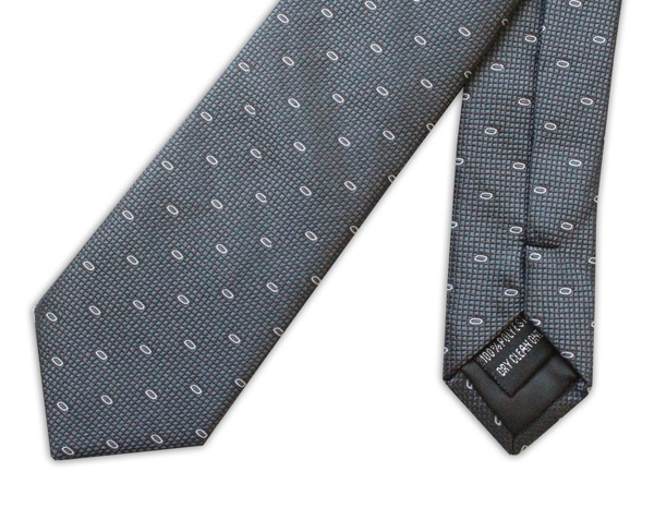Grey/White Loop Tie