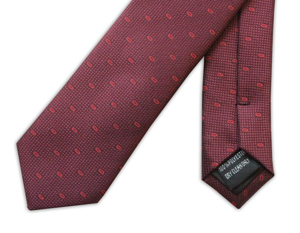 BURGUNDY/RED LOOP TIE-0