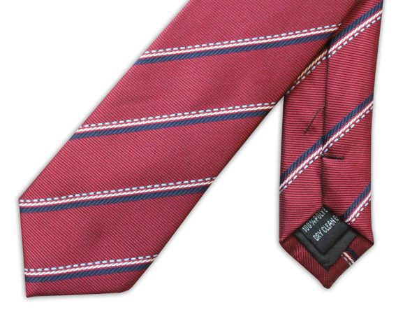 BURGUNDY/NAVY STRIPE TIE-0