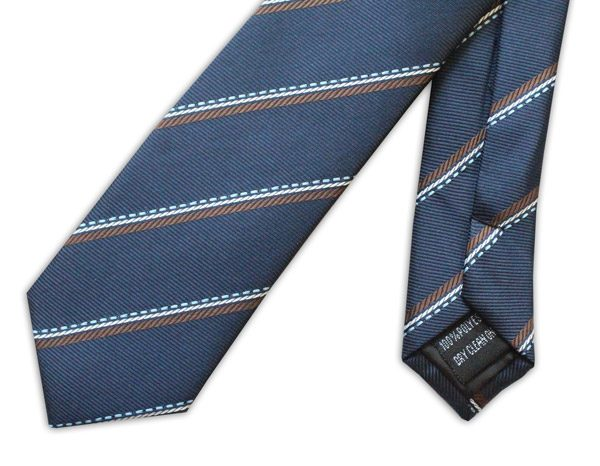 NAVY/BROWN STRIPE TIE-0