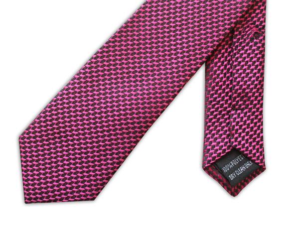 Pink Geometric Design Tie