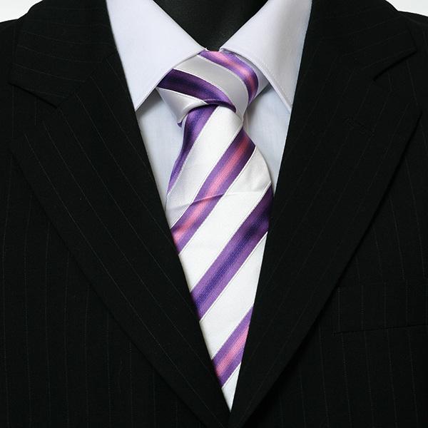 purple and white striped