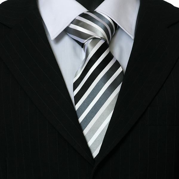 black grey striped