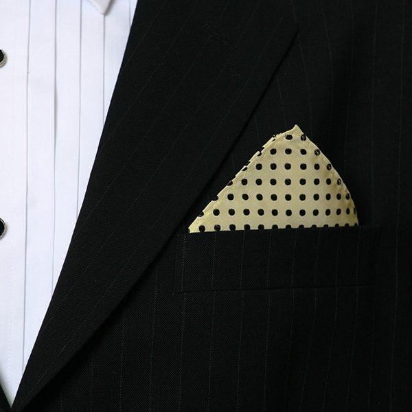 Gold Spot Silk Hankie-0