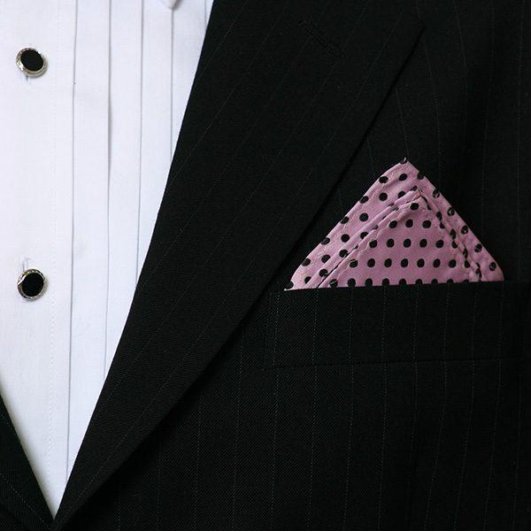 Pink Spot Silk Hankie-0