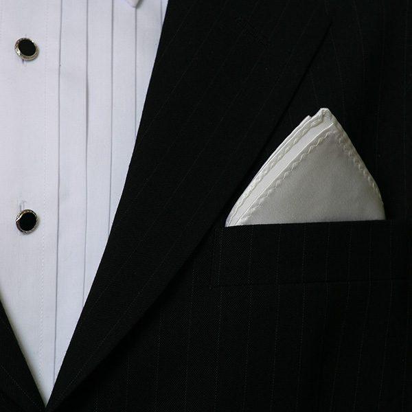 White Silk Hankie-0