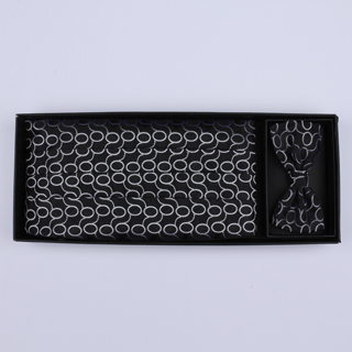 Black/white 'Links' Cummerbund / Bow Tie Set