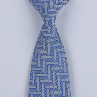 Blue Stairs Design Clip-on Tie