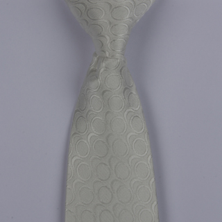 White/Silver Links Clip-on Tie-0