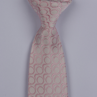 White/Pink Links Clip-on Tie-0