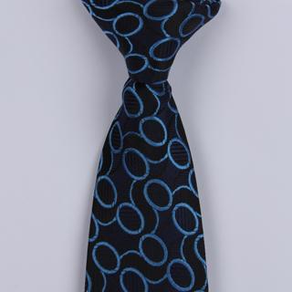Black/Blue Links Clip-on Tie-0