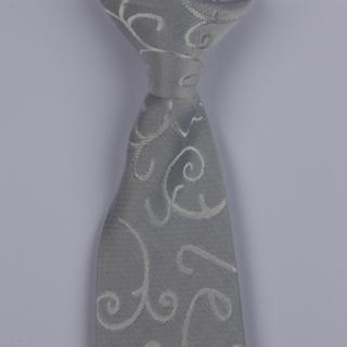 Silver Floral Clip-on Tie-0
