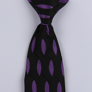 Black/Purple Ovals Clip-on Tie-0