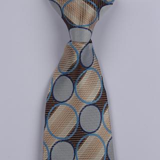 Beige/Grey/Multi Circle Clip-on Tie-0
