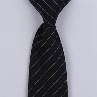 Black/Silver Squared Clip-On Tie