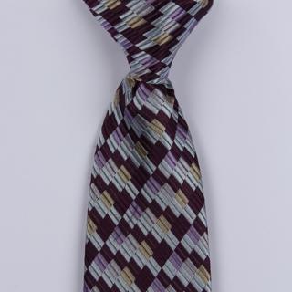 Black/Silver/Multi Broken Striped Clip-on Tie-0