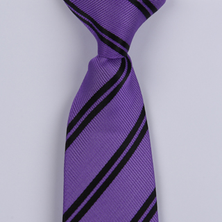 Purple/Black Diagonal Striped Clip-on Tie-0