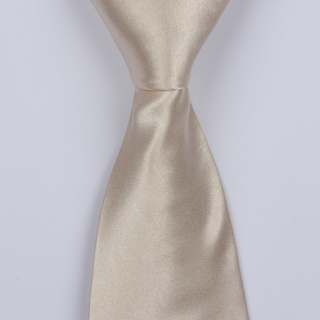 PLAIN CREAM BOYS TIE
