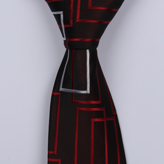 BLACK/RED ABSTRACT BOYS TIE