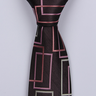 MAUVE ABSTRACT BOYS TIE