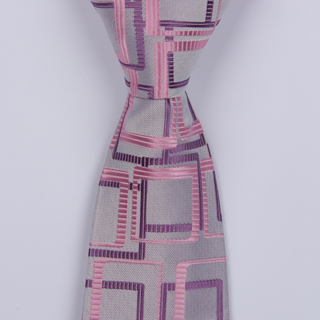 LILAC/PINK ABSTRACT BOYS TIE-0