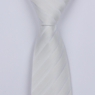 WHITE STRIPES BOYS TIE