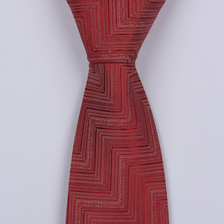 RED HERRINGBONE BOYS TIE