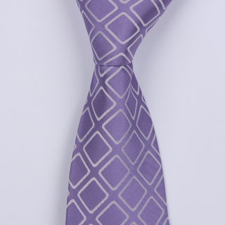 PURPLE/WHITE ABSTRACT BOYS TIE-0