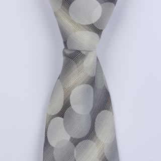 GREY CIRCLE ABSTRACT BOYS TIE