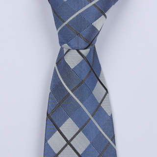 DENIM BLUE ARGYLE CHECKED BOYS TIE
