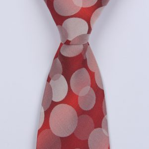 RED CIRCLE ABSTRACT BOYS TIE-0