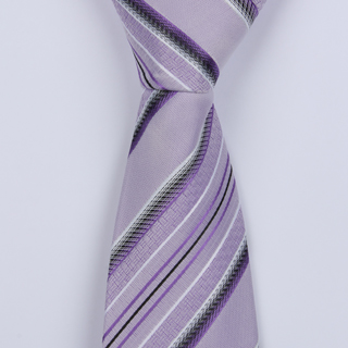 PURPLE STRIPES BOYS TIE-0