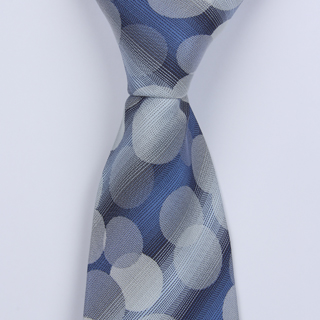 BLUE CIRCLE ABSTRACT BOYS TIE -0