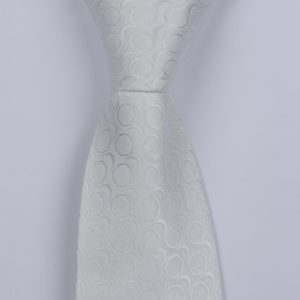 PEARL WHITE CIRCLE ABSTRACT BOYS TIE-0
