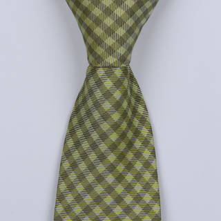 OLIVE GREEN GINGHAM BOYS TIE