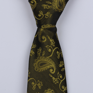 OLIVE GREEN PAISLEY BOYS TIE-0