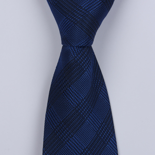 ROYAL BLUE GINGHAM BOYS TIE-0