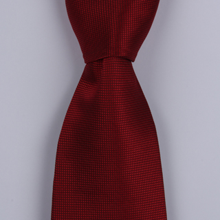 WINE RED POLYESTER TIE-0