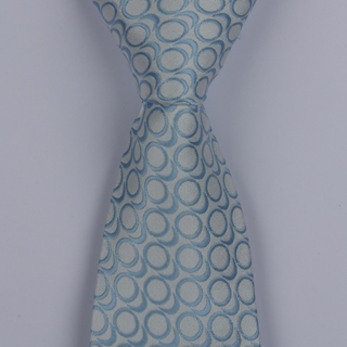 SKY BLUE/SILVER ABSTRACT POLYESTER TIE-0