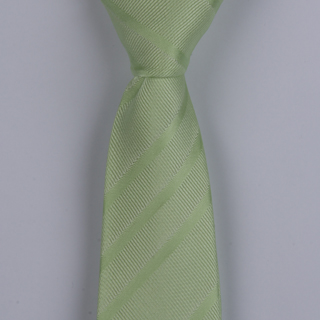 PEARL GREEN TEXTURED STRIPES POLYESTER SKINNY TIE-0