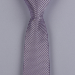 PEARL LILAC TEXTURED STRIPES POLYESTER SKINNY TIE-0