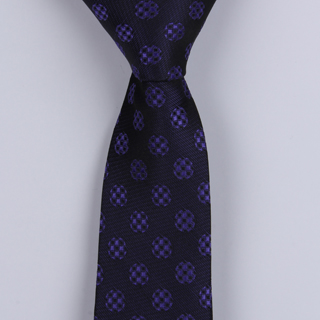 BLUE ABSTRACT POLYESTER SKINNY TIE