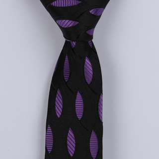 BLACK/PURPLE ABSTRACT POLYESTER TIE