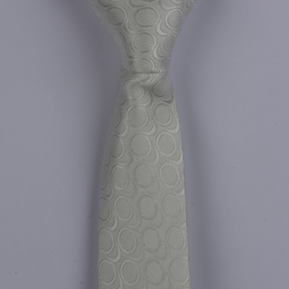 PEARL CIRCLES POLYESTER SKINNY TIE-0