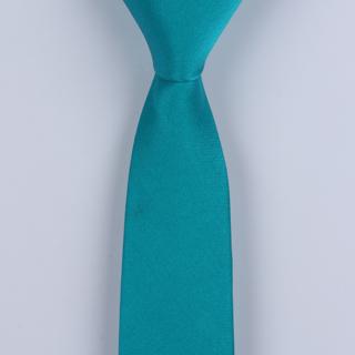 Turquoise Skinny Silk Satin Tie