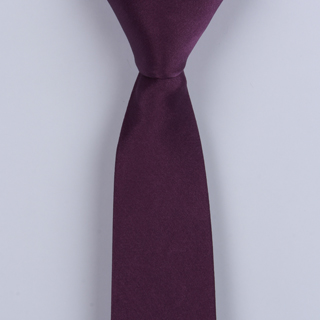 Purple Skinny Silk satin Tie-0
