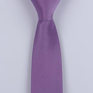 Mauve Skinny Silk Woven Tie-0